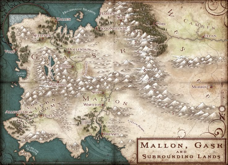 38 best map images on pinterest fantasy map maps and cartography map of the world from the cycle of arawn gumiabroncs Gallery