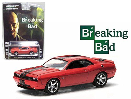 New 1:64 HOLLYWOOD SERIES 9 - RED BREAKING BAD 2012 DODGE CHALLENGER SRT8 Diecast Model Car By Green @ niftywarehouse.com #NiftyWarehouse #BreakingBad #AMC #Show #TV #Shows #Gifts #Merchandise #WalterWhite
