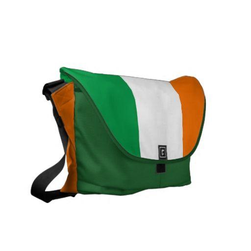 Irish Flag Rickshaw Messenger Bag