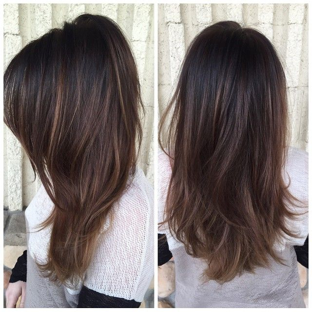 Another dark brunette balayage. Probably want a bit more in it.