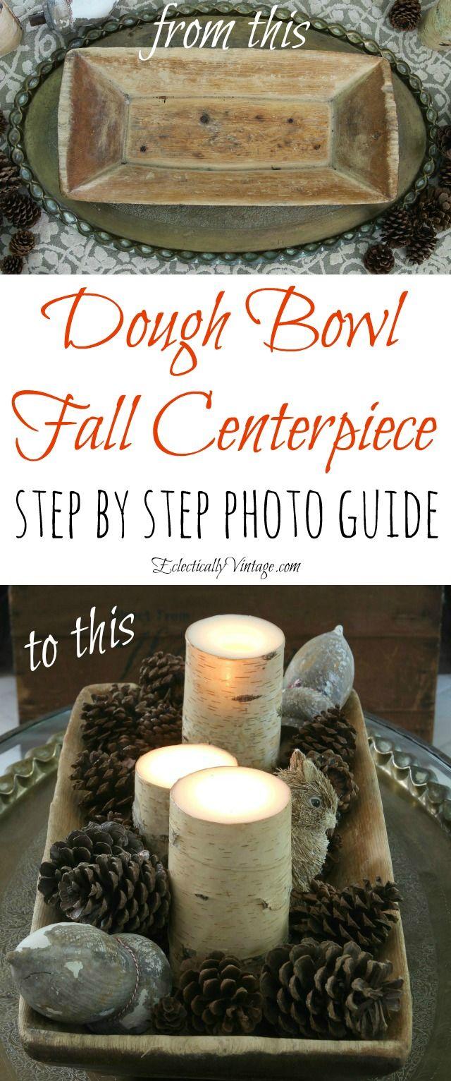 How to make a fall dough bowl centerpiece eclecticallyvintage.com