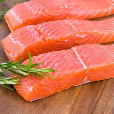 Foods heavy in omega-3 fatty acids like salmon, herring, and trout play a key role in keeping our skin smooth, says Lisa Drayer, MA, RD, nutritionist and author of The Beauty Diet: Looking Great Has Never Been So Delicious.