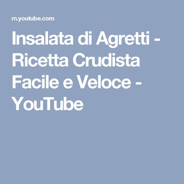 Insalata di Agretti - Ricetta Crudista Facile e Veloce - YouTube
