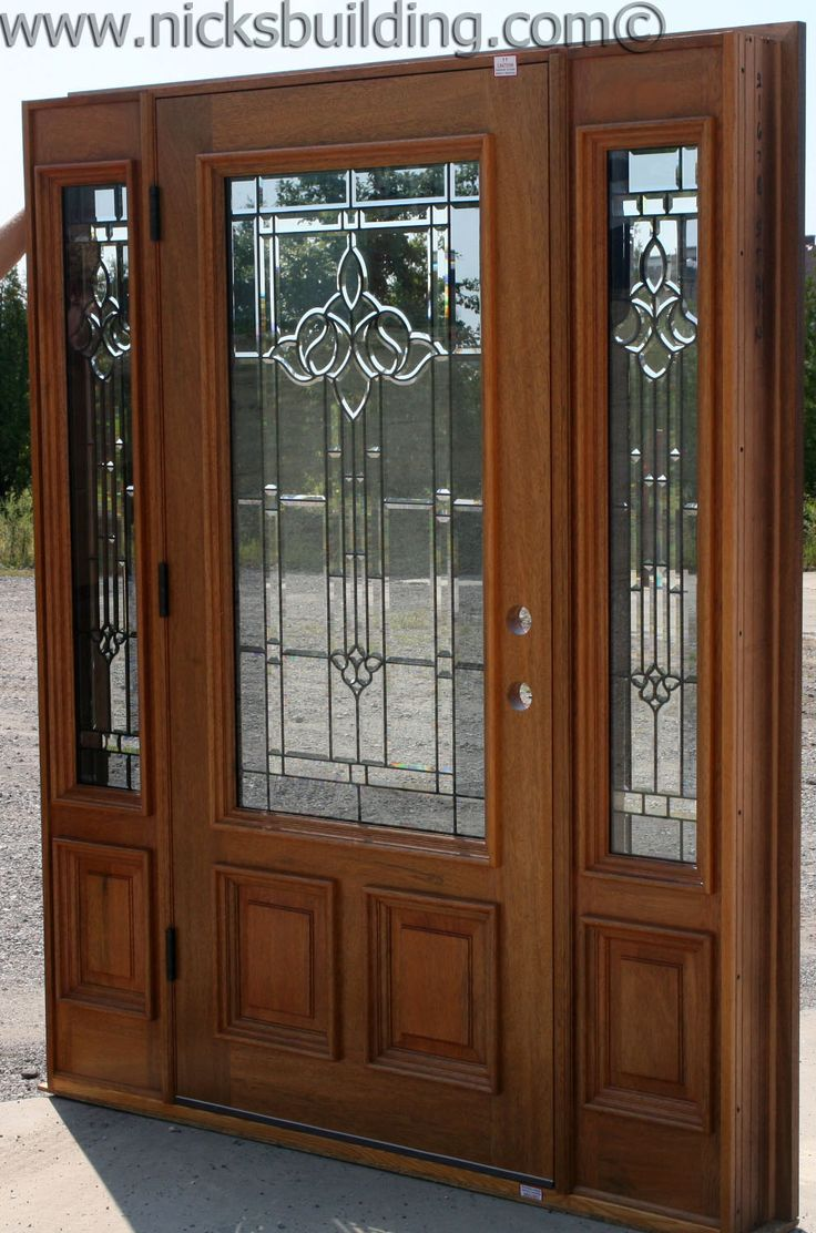 Entrance door beautiful glass detail single door with two for Single entry door with glass