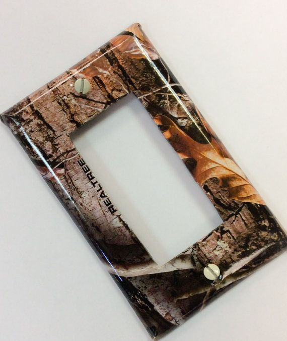 Real Tree Camo Light Switch Cover, Real Tree Camo Rocker Switch Cover, Real Tree Camo Man Cave Decor