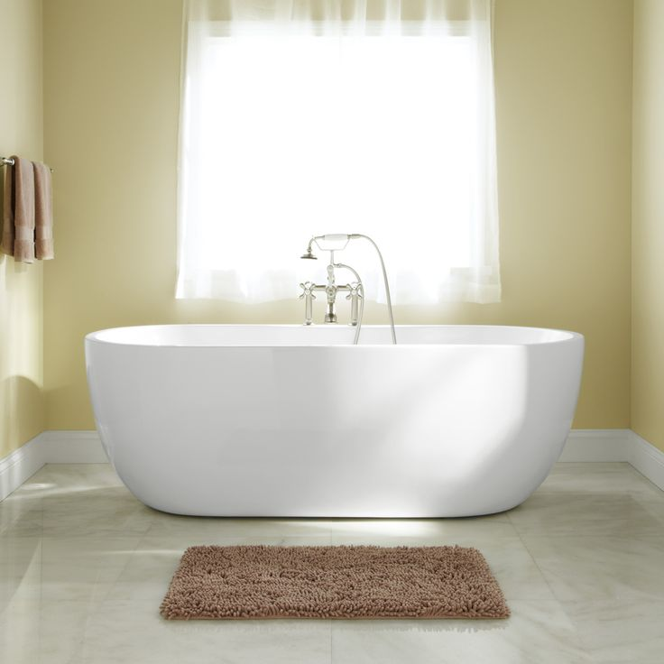 56 boyce freestanding acrylic tub will fit into our tiny
