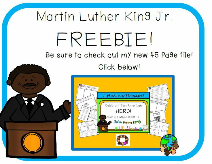 125 Best SLP Dr. Martin Luther King Day Freebies Images On