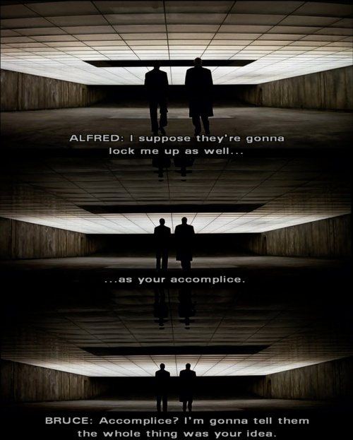 """The Dark Knight, """"Accomplice? I'm gonna tell them the whole thing was your idea."""""""