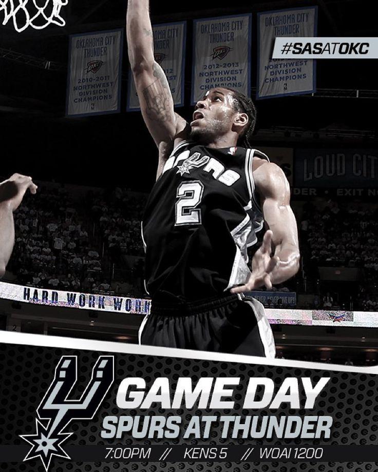 It's finally here! Season tips off tonight at 7/c on @kens5! #SASatOKC #GoSpursGo. Spurs Game Day vs OKC