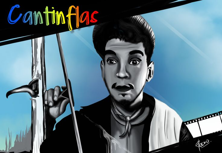"Mario Moreno ""Cantinflas"", JECKO JC on ArtStation at https://www.artstation.com/artwork/xdKNm"