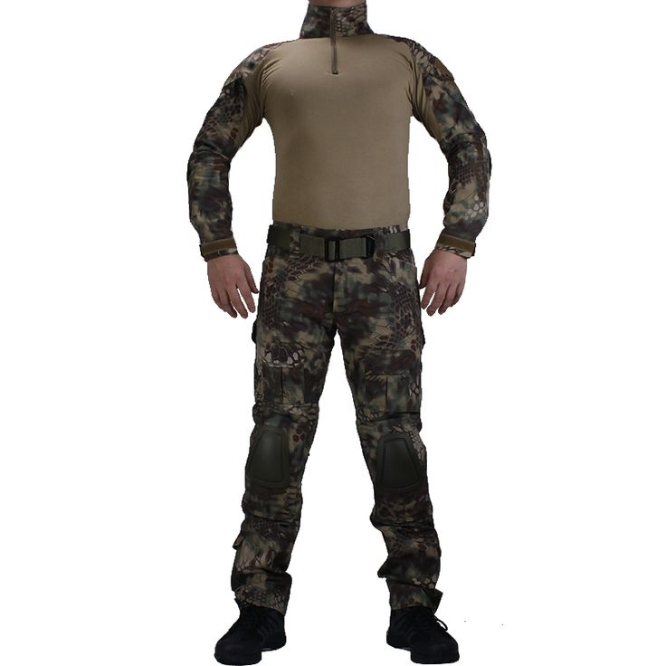 56.24$  Watch here - Camouflage BDU Mandrake Combat uniforms shirt with broek and elbow & knee pads militaire game cosplay uniform ghilliekostuum  #aliexpresschina