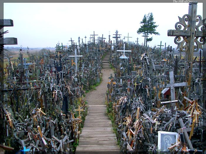 The Hill of Crosses  is a site of pilgrimage about 12 km north of the city of Šiauliai, in northern Lithuania.