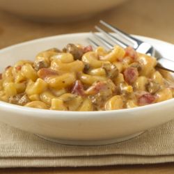 RO*TEL Chili Mac and Cheese: Mac and cheese flavored with chili and zesty tomatoes. A new twist on an old favorite!