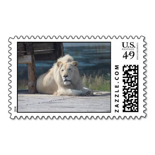 White lion postage