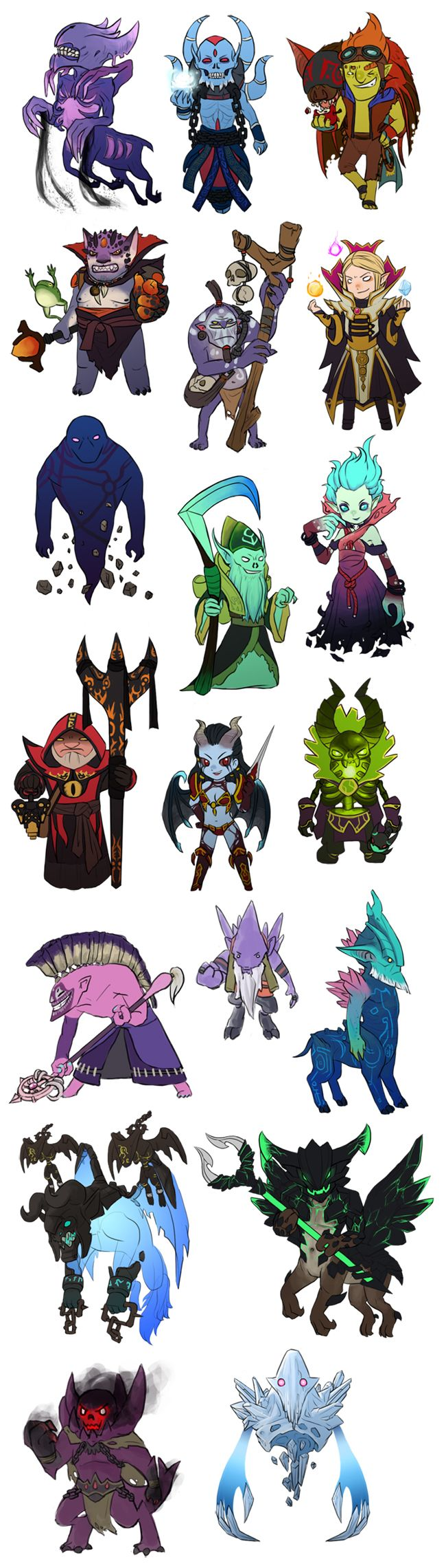 Dota 2 DIre INT mini heroes by spidercandy
