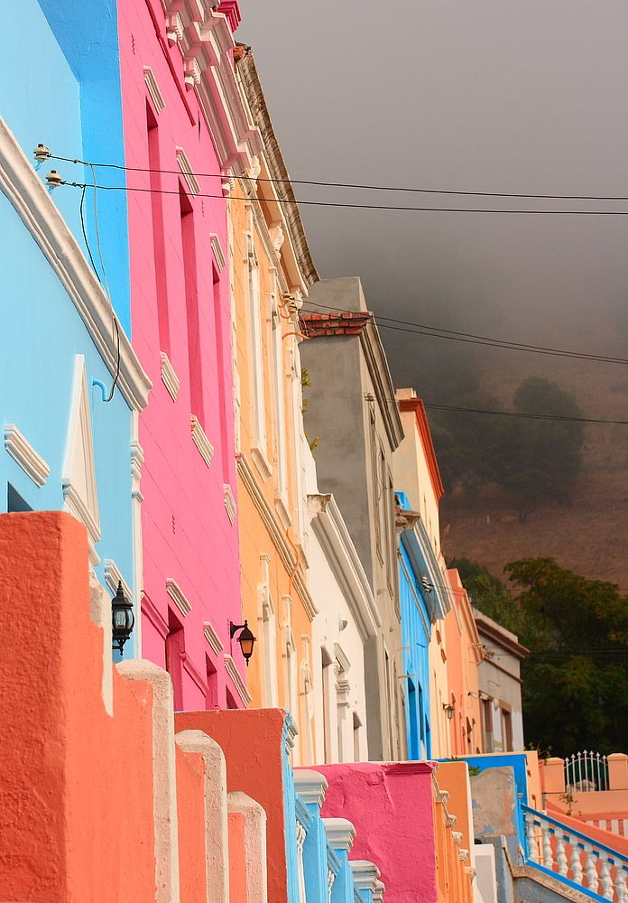Colourful houses in Bo-Kaap - the exotic part of Cape Town