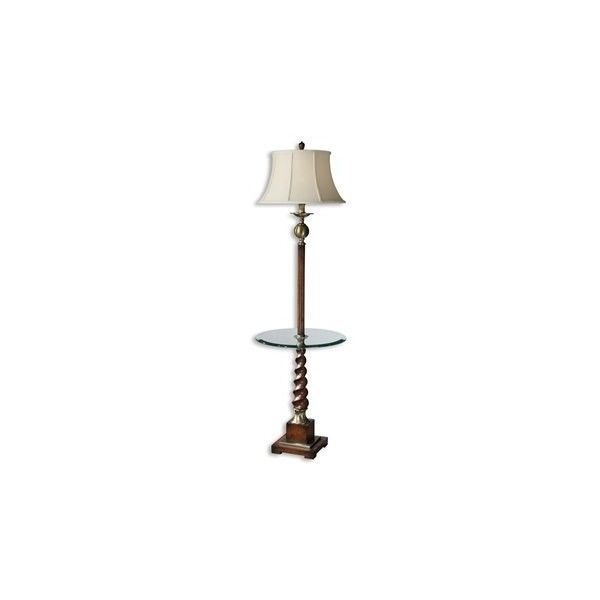 Uttermost Myron Twist End Table Floor Lamp ($394) ❤ Liked On Polyvore  Featuring Home