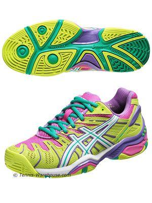 Asics Gel Resolution 4 Yellow/Violet Women's ShoesShoes Tennis, Asics Gel, Yellow Violets Women, Gel Resolutions, Asics Tennis Shoes, Woman Shoes, Women Shoes, Tennis Seasonif, New Shoes