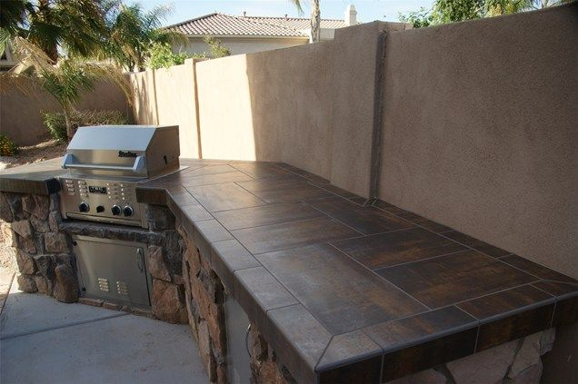 Tiled Bbq Outdoor Kitchen Alexon Design Group Gilbert, AZ