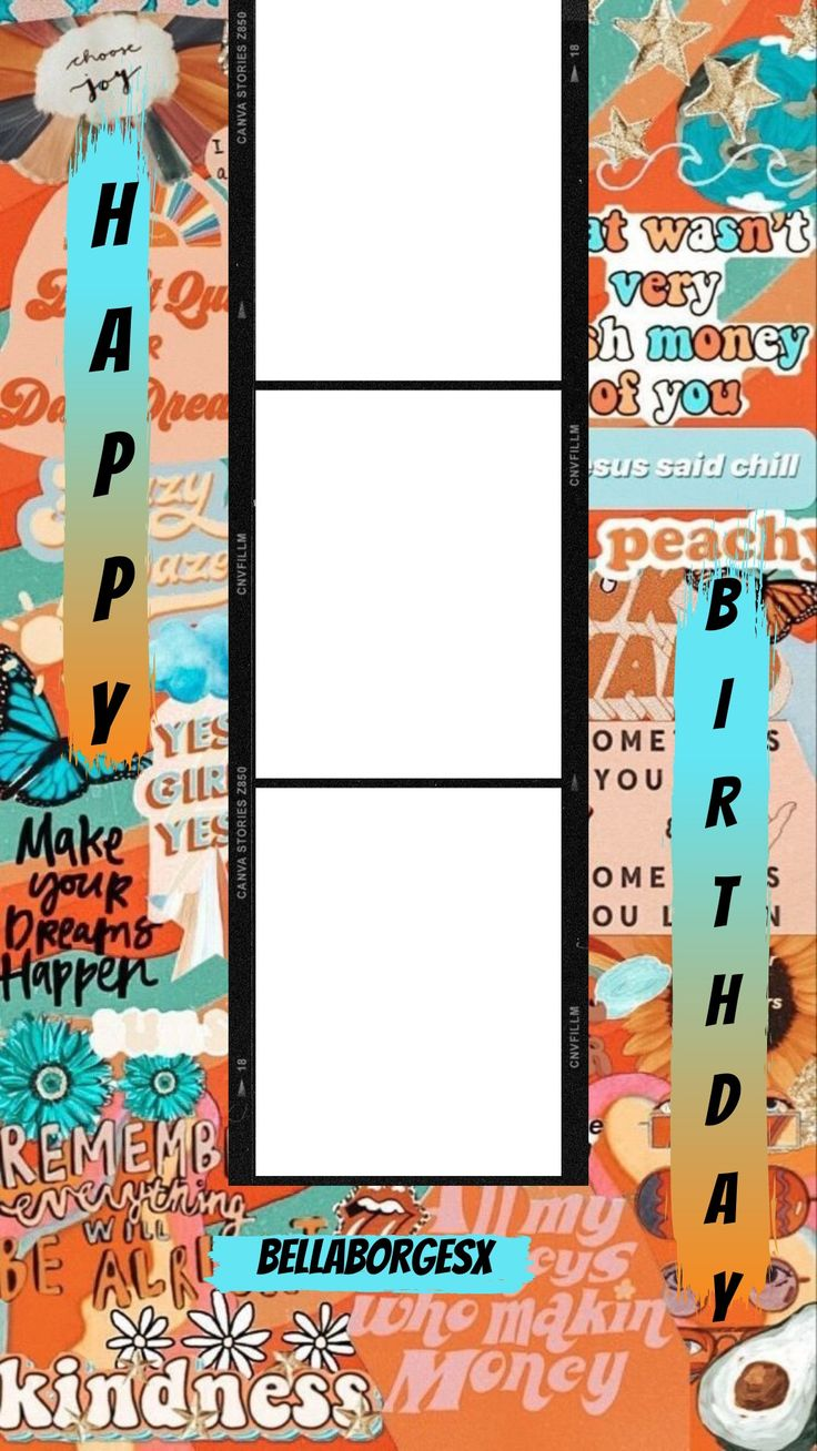 Template de happy birthday di 2020 Desain sampul buku