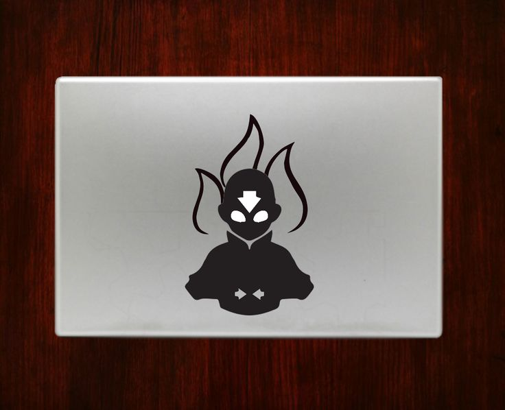 Avatar aang the last airbender decal sticker vinyl for macbook pro