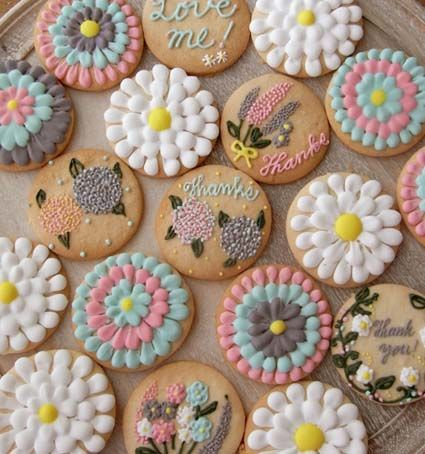 Thumb and Cakes : Flower icingcookie Lesson | Sumally