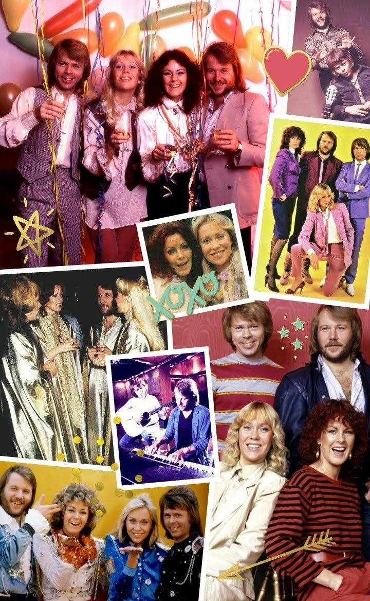 Abba Phone Collage Background