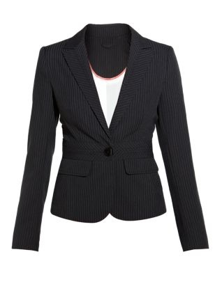 blazer- classic to dress up jeans or to throw on and dress up slacks.