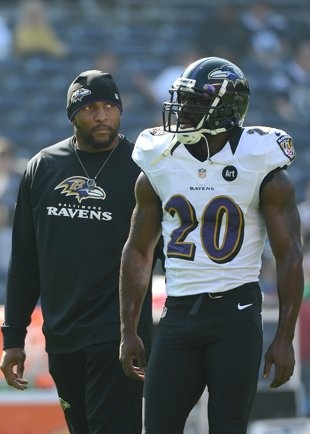 Safety Ed Reed (R) and Ray Lewis are unquestionably regarded as two of the Ravens' leaders.