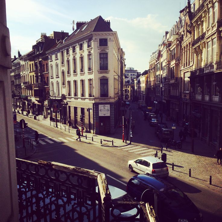 Hotel Orts view from room, Brussels, Belgium