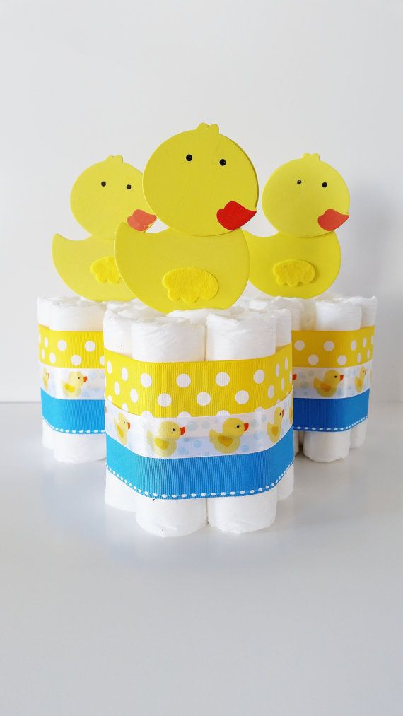 Rubber Ducky Baby Shower Centepieces by LilLoveBugsCreations