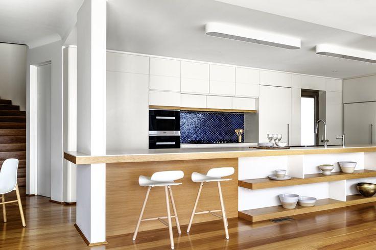 INTERIORS Alwill Interiors ARCHITECTURE Alwill Design  #interiors #kitchen #wood #woodenfloor #blacktiles
