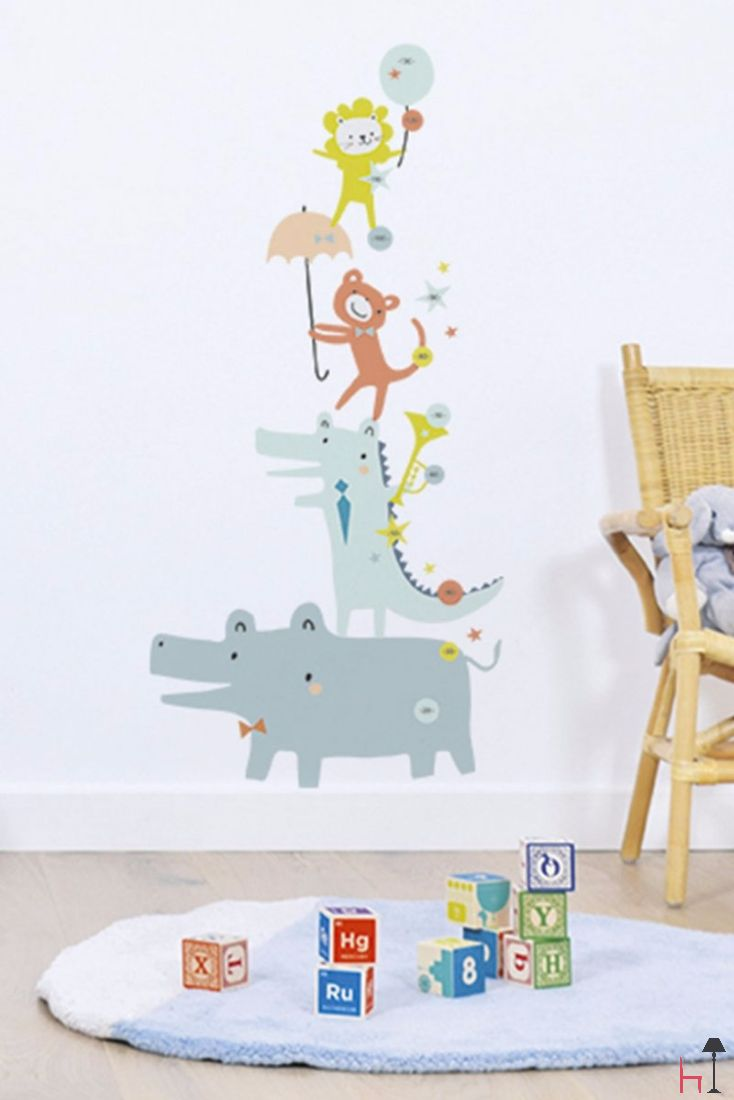 The Animals growth chart by Lilipinso offers a lovely way to keep track of the growth of your little ones.