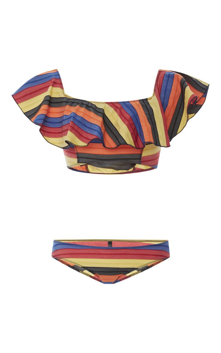 Mira Flounce Bikini Set by LISA MARIE FERNANDEZ Now Available on Moda Operandi