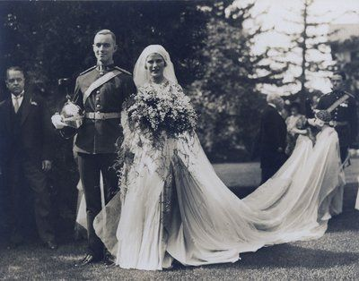 Wedding picture of Eleanor McLaughlin and Lt. Col. C. Churchill Mann