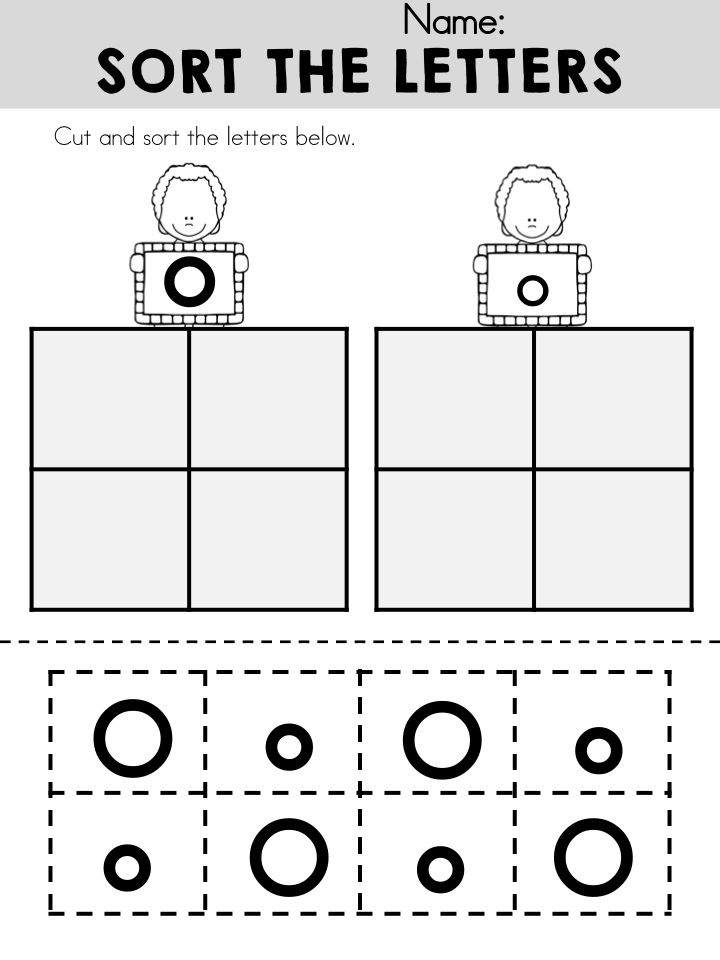 Sort uppercase and lowercase letter O  Part of the Alphabet Adventures Letter O Packet
