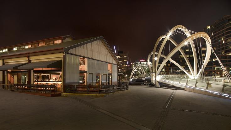 The Bridge exterior, alongside the Seafarers Bridge #swpromenade #melbourne #bar