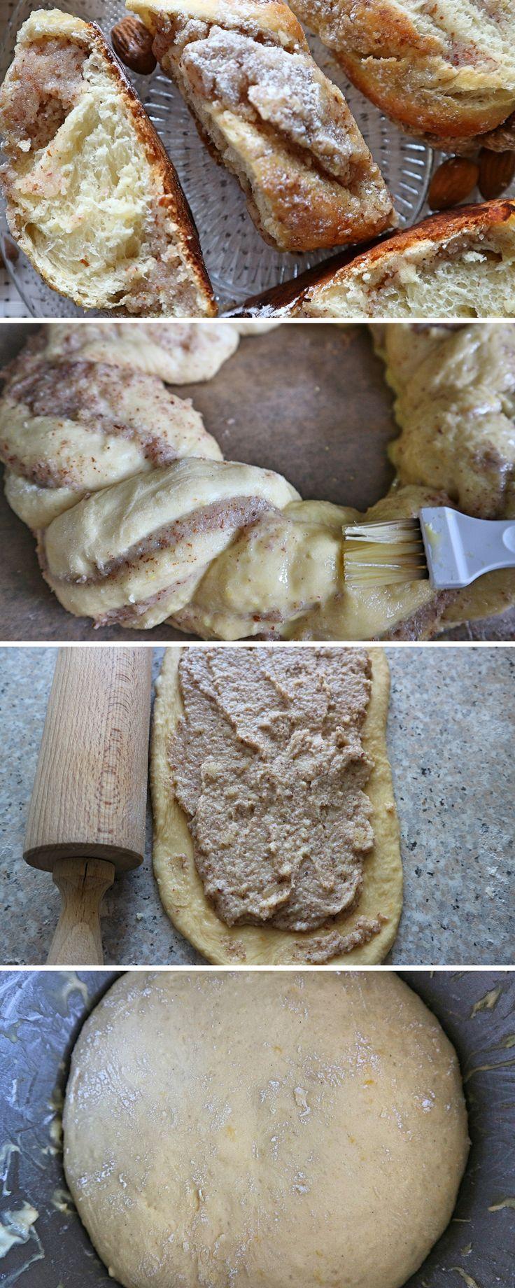 Osterkranz mit Marzipan-Mandel-Füllung – einfaches Rezept