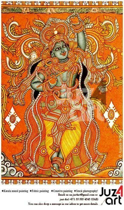 Govardhana Giridhari, Artist : Aneesh Mepate, Paintings can be done on demand! For More Details : Contact juz4art@gmail.com or call us on +971 55 585 4242 (UAE). #juz4art, #mepatemurals, #kerala_mural_painting, #Indian_art, #guruvayur, #aneesh_mepate, #jayasree_menon, #kerala_mural_art, #KeralaMurals, #Kerala_Murals, #Acrylic, #Govardhana_Giridhaari