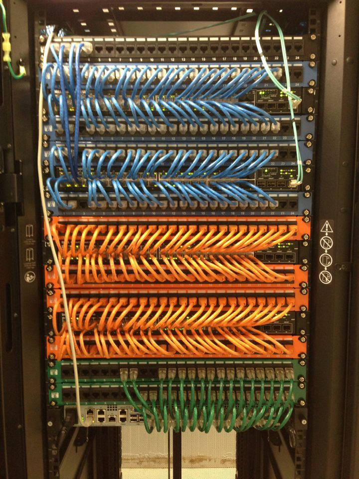 17 best ideas about network cable well organized network cables make the world go round orange blue green patch panel install