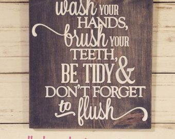 Wash your hands mom said so bathroom sign by PrimGifts on Etsy