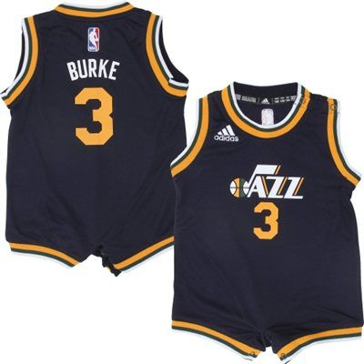... Infant Utah Jazz Trey Burke adidas Navy Blue Replica Jersey Romper ... 5d8f59aff