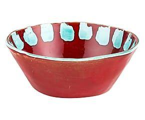 Ciotola in ceramica forte Gloria rosso/azzurro - 16x5x16 cm
