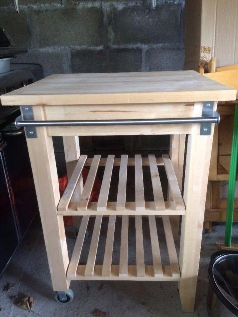 IKEA Butcher Block Trolley/Island More