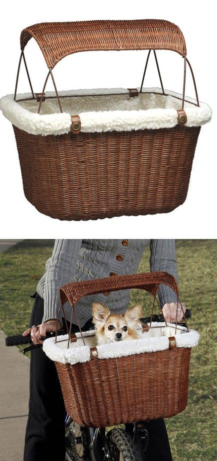 Tagalong Pet Bike Basket  @Jennifer Prosser I would love to see Biggie riding in one of these with you! :)  hehe