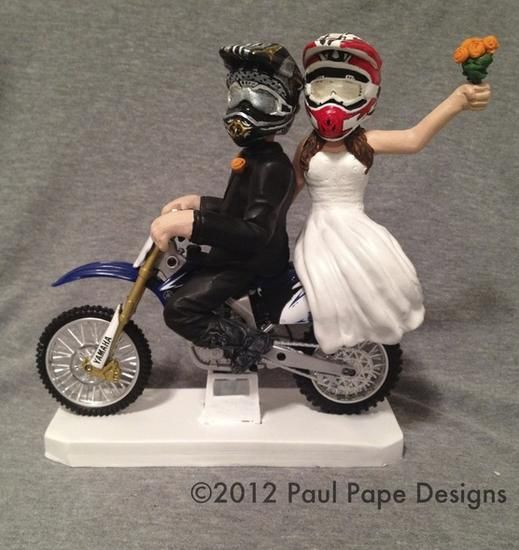 dirt bike wedding cake toppers best 20 motocross wedding ideas on dirt bike 13535