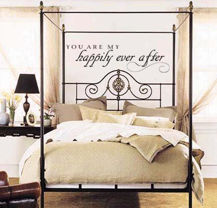 You Are My Happily Ever After   Wall Decal for Bedroom from Trading Phrases