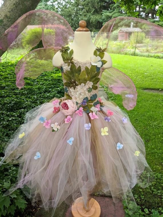 9edd6aa258 Ethereal Gaia Fairy costume dress, woodland fairy dress, fairy ...