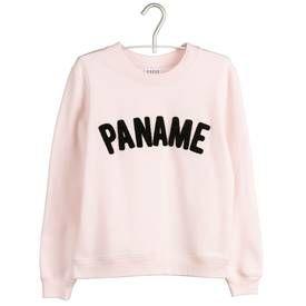 Sweat paname Rose CLAUDIE PIERLOT FEMME - Boutique en ligne CLAUDIE PIERLOT - Place des Tendances.