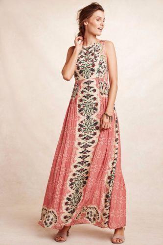 66af8d013797 Details about Anthropologie Botanique Maxi Dress By Bhanuni: Size 2 ...